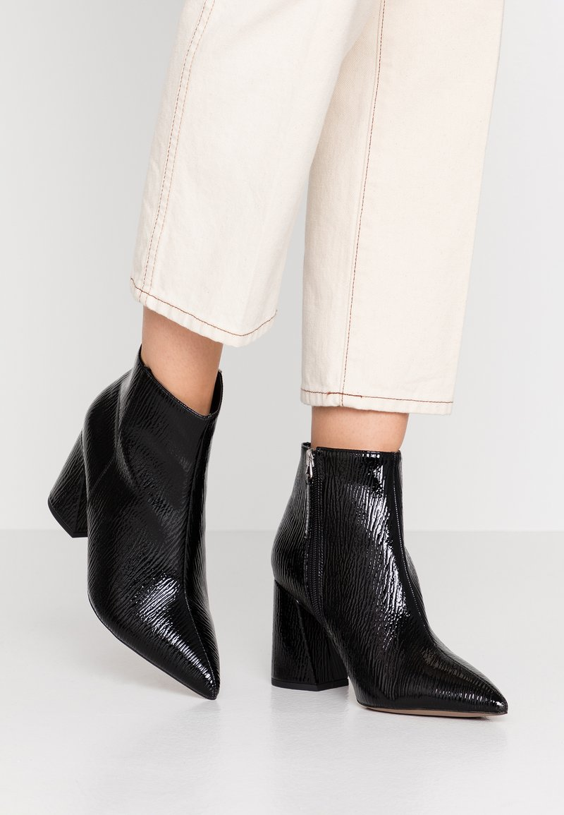 Topshop Wide Fit - WIDE FIT HACKNEY - Ankle boots - black