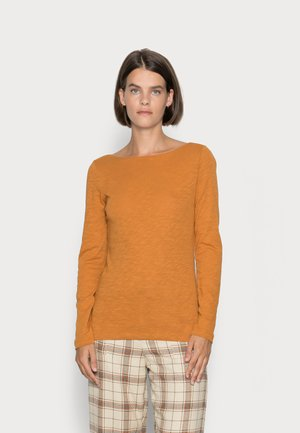 LONG SLEEVE BOAT NECK - Langarmshirt - sunny pumpkin