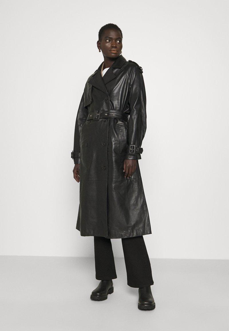2nd Day - EDITION GRAF - Leather jacket - jet black
