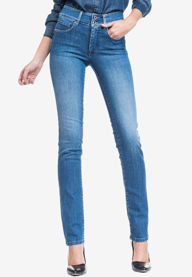 PUSH IN - Slim fit jeans - blue denim