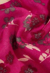 Esprit - MIT BLUMEN-PRINT - Scarf - dark pink - 3