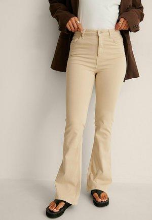 Bootcut jeans - light beige