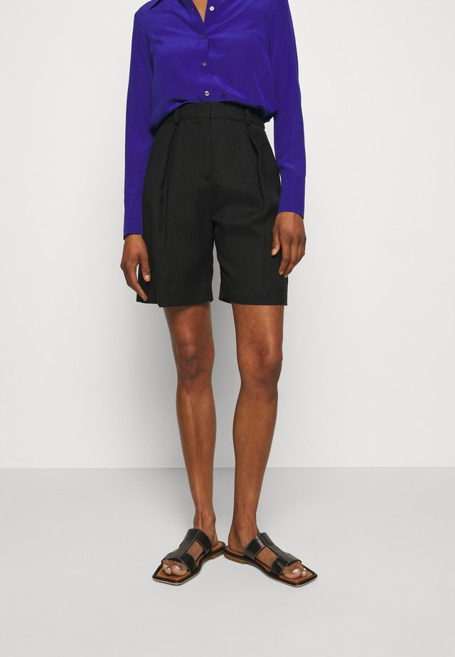 BASKET WEAVE TAILORED - Shorts - black