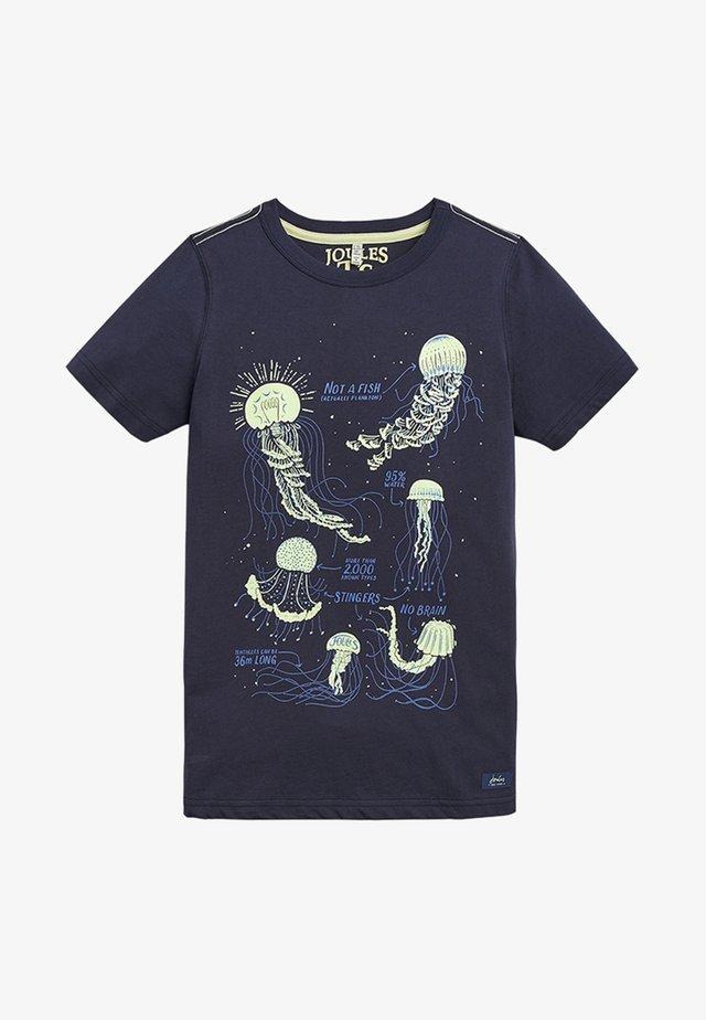 RAY - Print T-shirt - dark blue