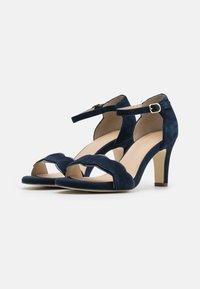Anna Field Wide Fit - LEATHER - Sandals - dark blue - 2