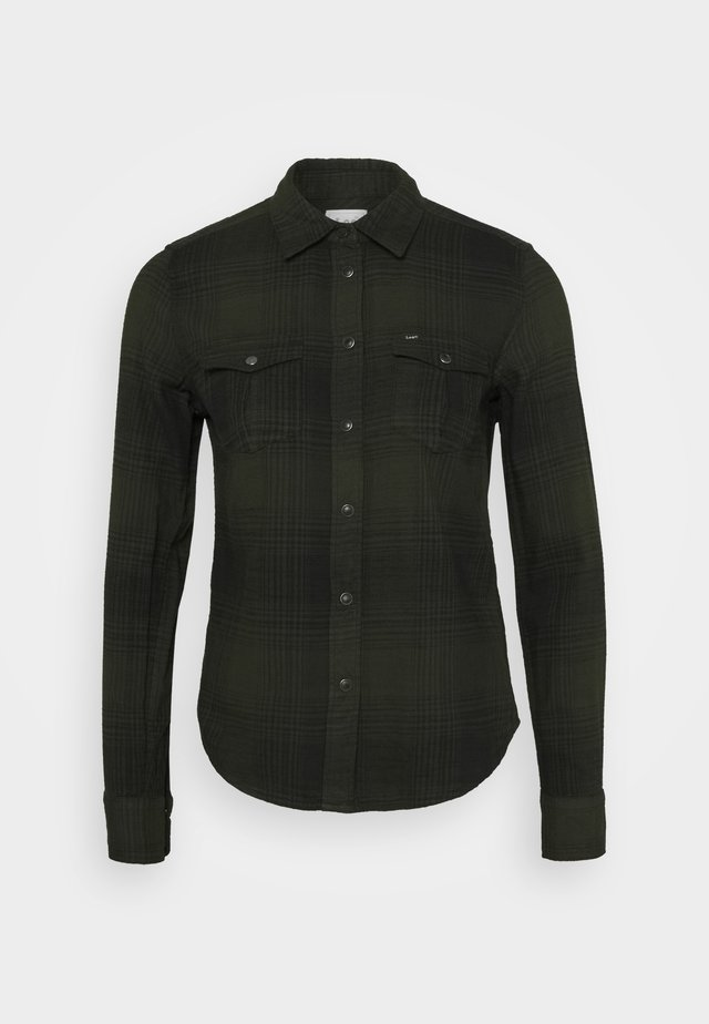 REGULAR WESTERN SHIRT - Overhemdblouse - serpico green