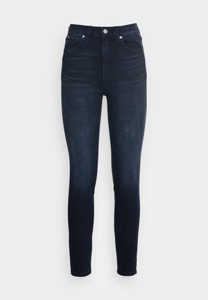 HIGH RISE SKINNY ANKLE - Jeans Skinny - blue