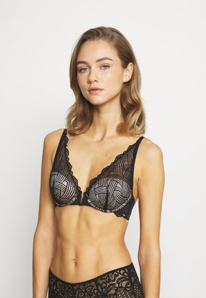 BLAKE - Triangle bra - black