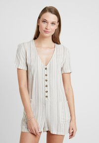 Topshop - STRIPE BUTTON - Beach accessory - cream - 0