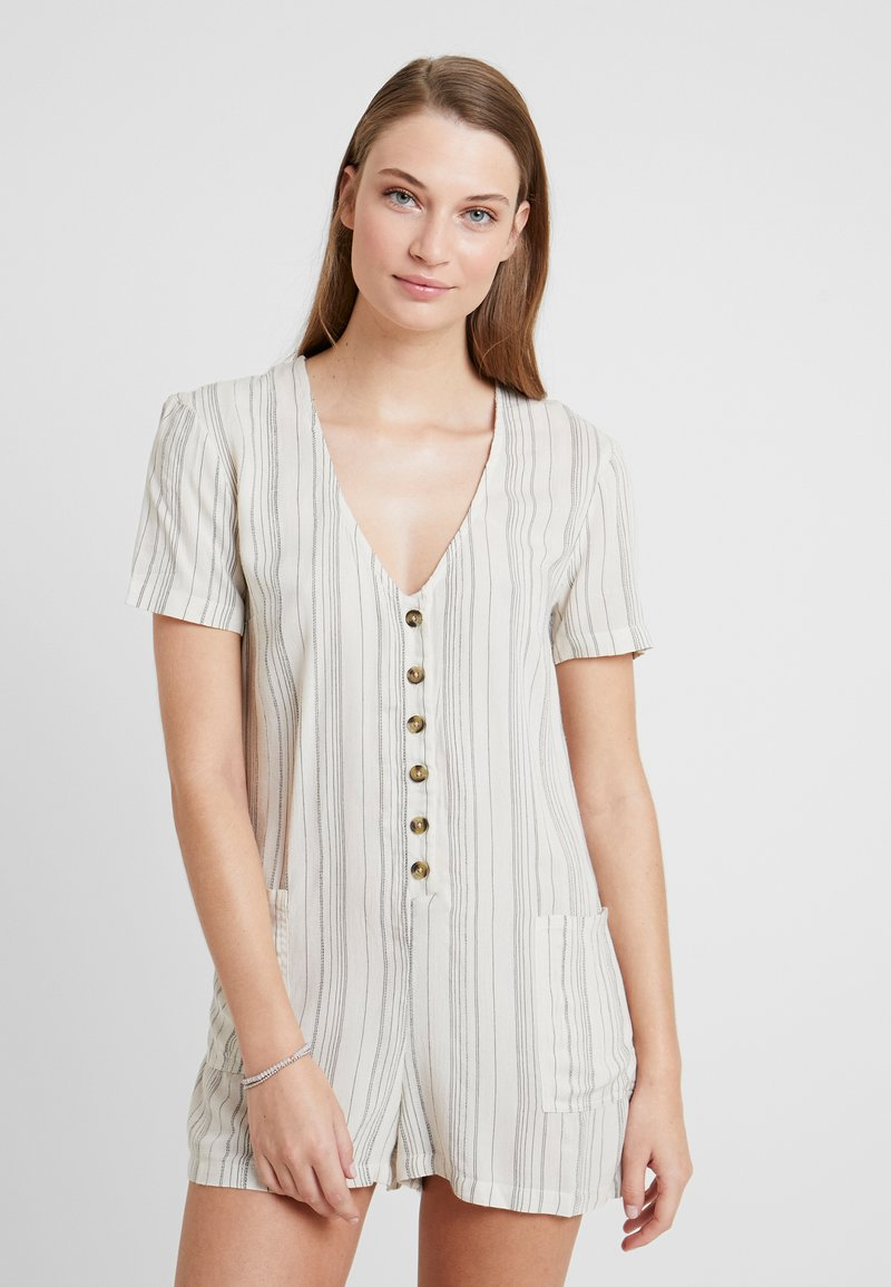 Topshop - STRIPE BUTTON - Beach accessory - cream
