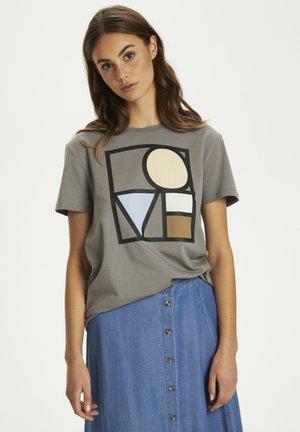 T-shirt print - brushed nickel