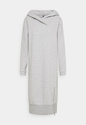 PCLEDA HOODIE DRESS  - Vapaa-ajan mekko - light grey melange