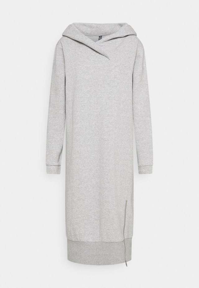 PCLEDA HOODIE DRESS  - Vardagsklänning - light grey melange