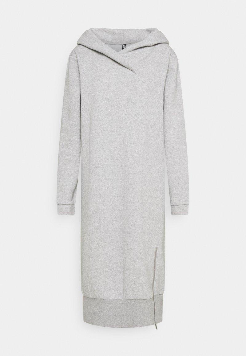 PIECES Tall - PCLEDA HOODIE DRESS  - Day dress - light grey melange