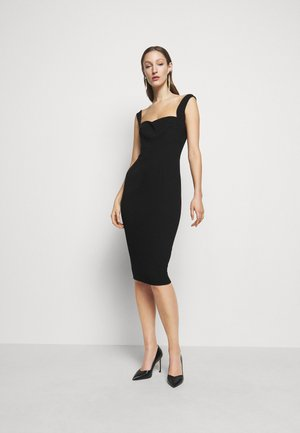 PANELLED CURVE CAMI - Shift dress - black