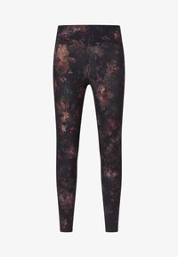 OYSHO - COMPRESSION  WITH WINTER FLORAL PRINT  - Leggings - black - 5