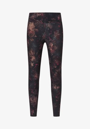 COMPRESSION  WITH WINTER FLORAL PRINT  - Punčochy - black