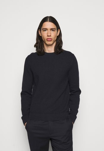 ANDY STRUCTURE C-NECK - Maglione - navy