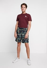 Abercrombie & Fitch - EXPLODED CREW VEE POP  - Print T-shirt - burg crew - 1