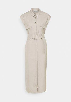 SHIRT DRESS - Shirt dress - beige