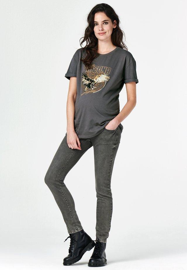 Print T-shirt - asphalt