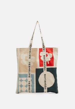 CO CREATED IGELIN - Tote bag - off white/green/red