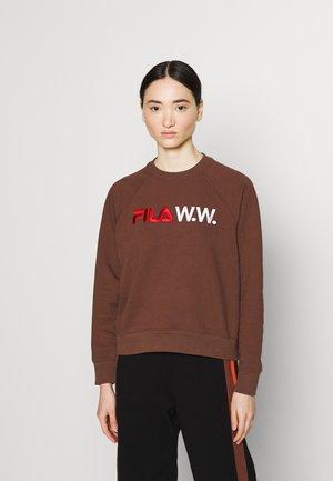 ELENA CREW - Sweatshirt - potting soil