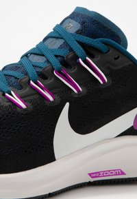 Nike Performance - AIR ZOOM PEGASUS 36 - Stabilty running shoes - black/summit white/valerian blue/vivid purple - 5