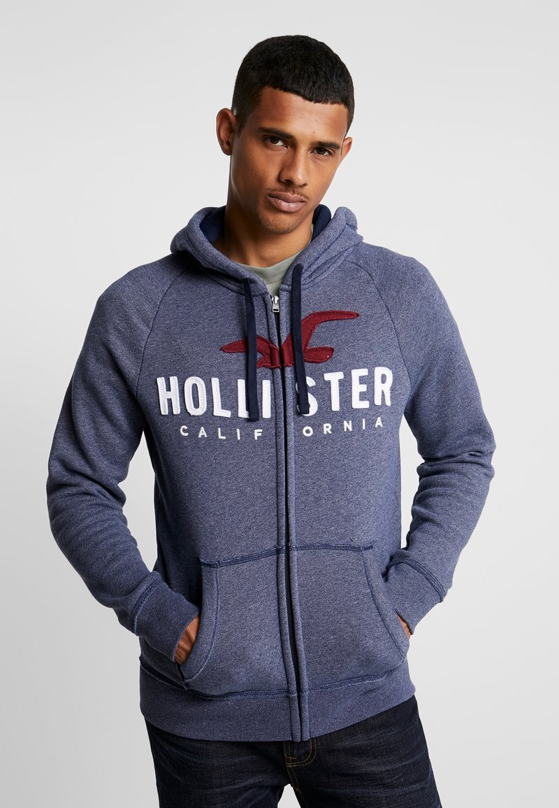 Hollister Co. - ICONIC TECH LOGO  - Mikina na zip - navy