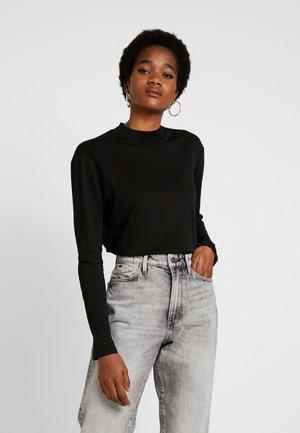 LOOSE FUNNEL - Long sleeved top - black