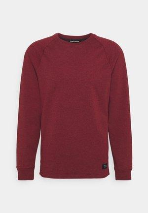 BASIS CREW - Sweatshirt - dark crimson heather