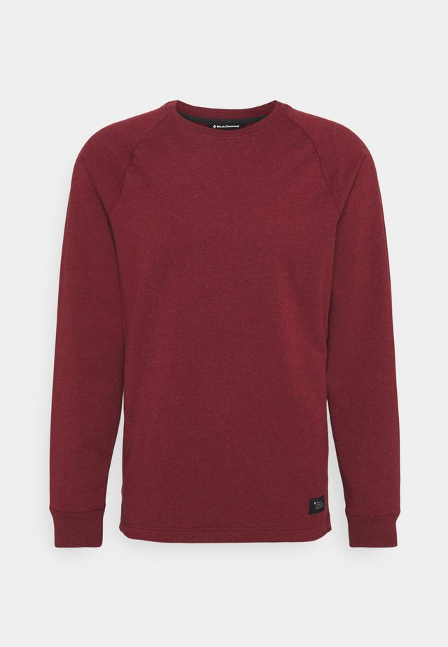BASIS CREW - Sweatshirt - dark crimson heather