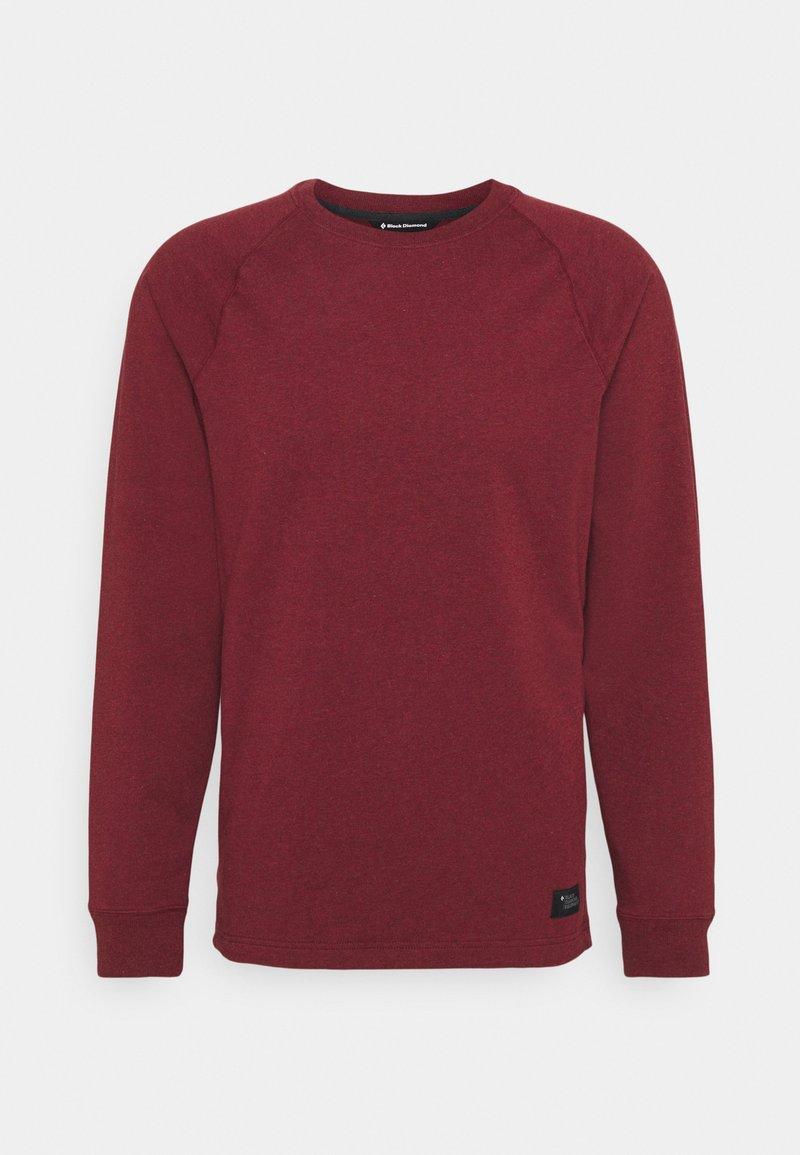 Black Diamond - BASIS CREW - Sweatshirt - dark crimson heather