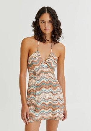 MIT RETROPRINT - Day dress - mottled light brown