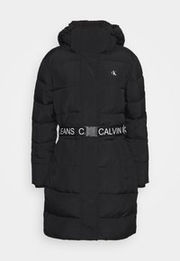 Calvin Klein Jeans - WAISTED LOGO LONG PUFFER - Winter coat - black - 5