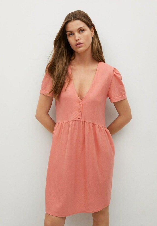 FLOWY - Korte jurk - light pink