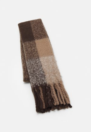 PCBEA LONG SCARF - Scarf - white/grey/natural