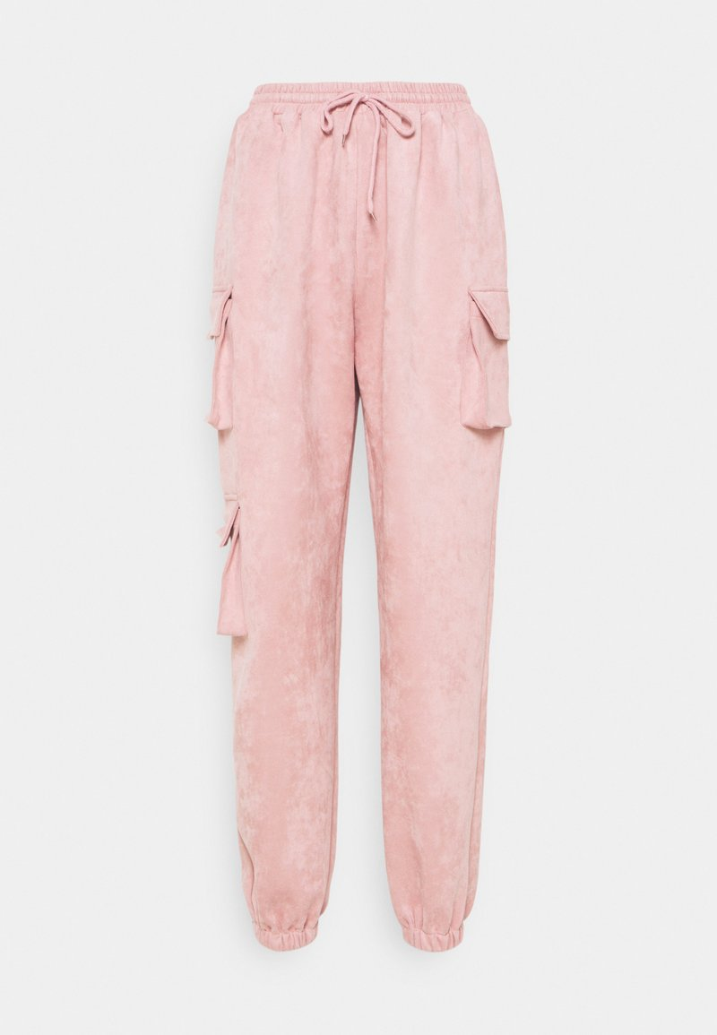 Missguided - TEXTURECARGO JOGGER - Tracksuit bottoms - pink