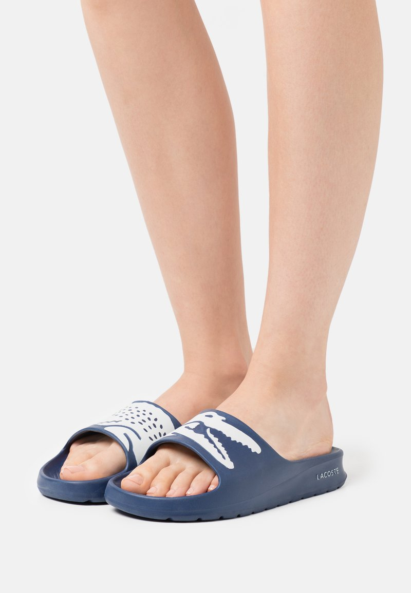 Lacoste - CROCO  - Mules - navy/white