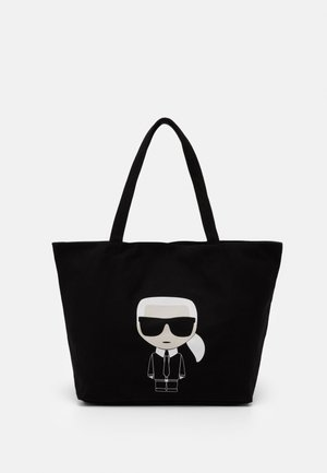 IKONIK KARL TOTE - Bolso shopping - black