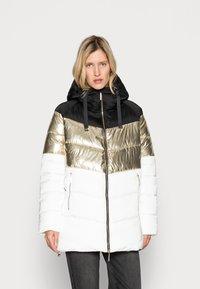 Liu Jo Jeans - IMBOTTITO OVATT LUNG - Winter coat - snow white/nero - 0