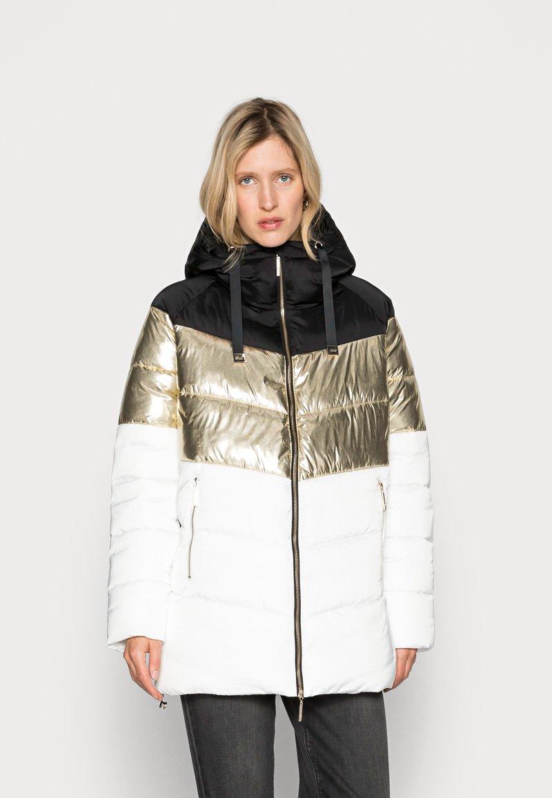 Liu Jo Jeans - IMBOTTITO OVATT LUNG - Winter coat - snow white/nero
