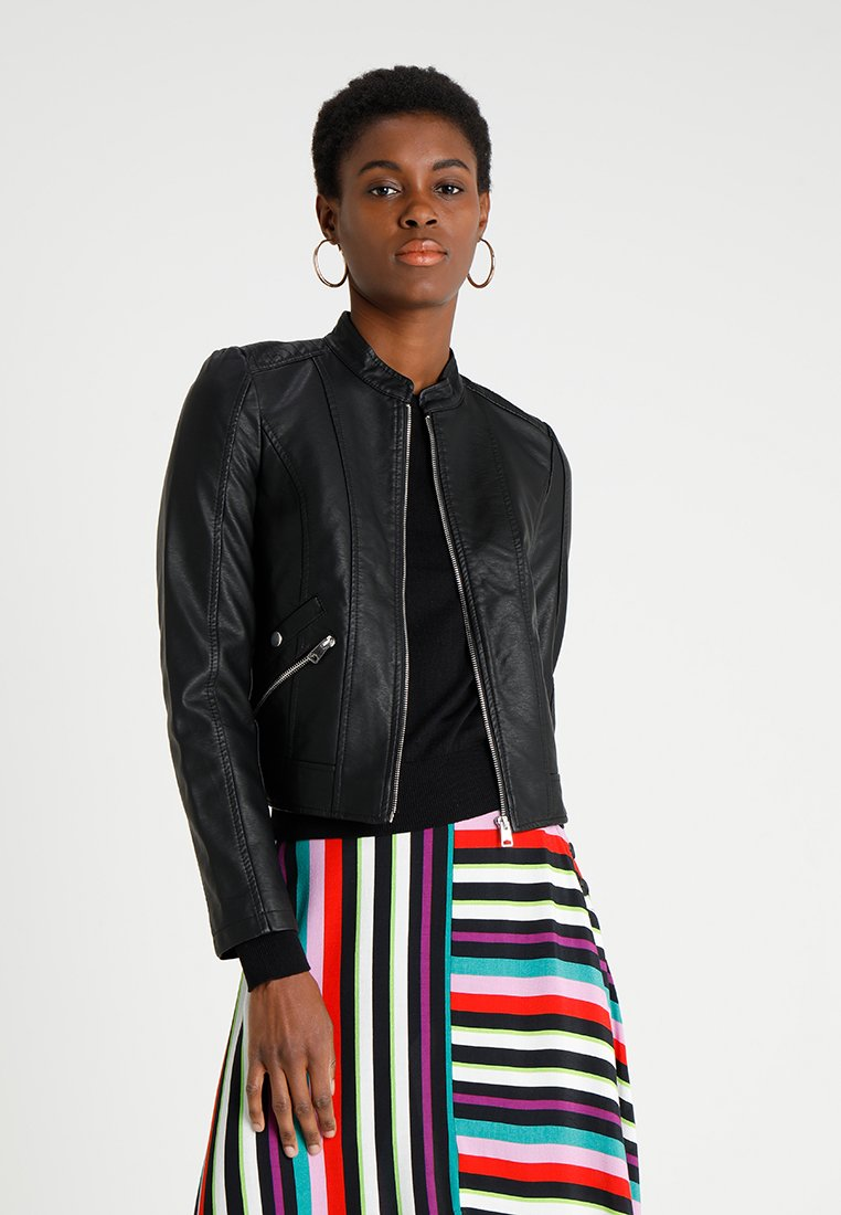 Vero Moda - VMKHLOE JACKET - Faux leather jacket - black