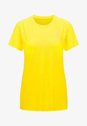 L.I.M TECH TEE - Print T-shirt - signal yellow