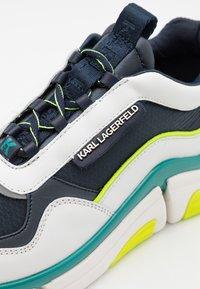 KARL LAGERFELD - VENTURE LAZARUS LOOP MIX - Sneakersy niskie - white/navy - 5