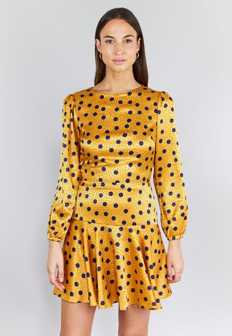 True Violet - Korte jurk - yellow, dark blue