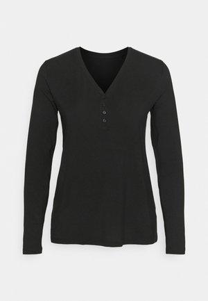 RELAX LANGARM - Pyjama top - schwarz