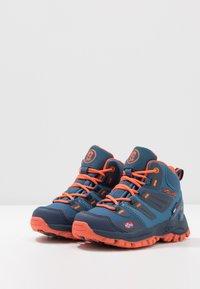 TrollKids - KIDS RONDANE HIKER MID - Hiking shoes - mystic blue/orange - 3