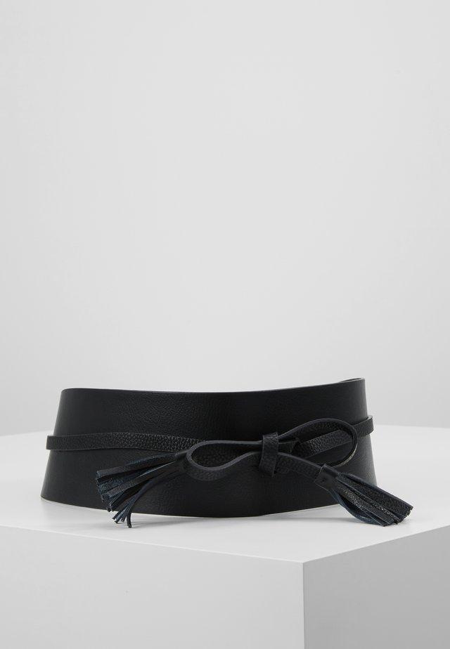 FUSCIACCA IN EFFETTO MARTELLATO - Waist belt - nero