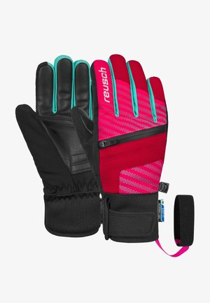 Gloves - tango red/pink glo